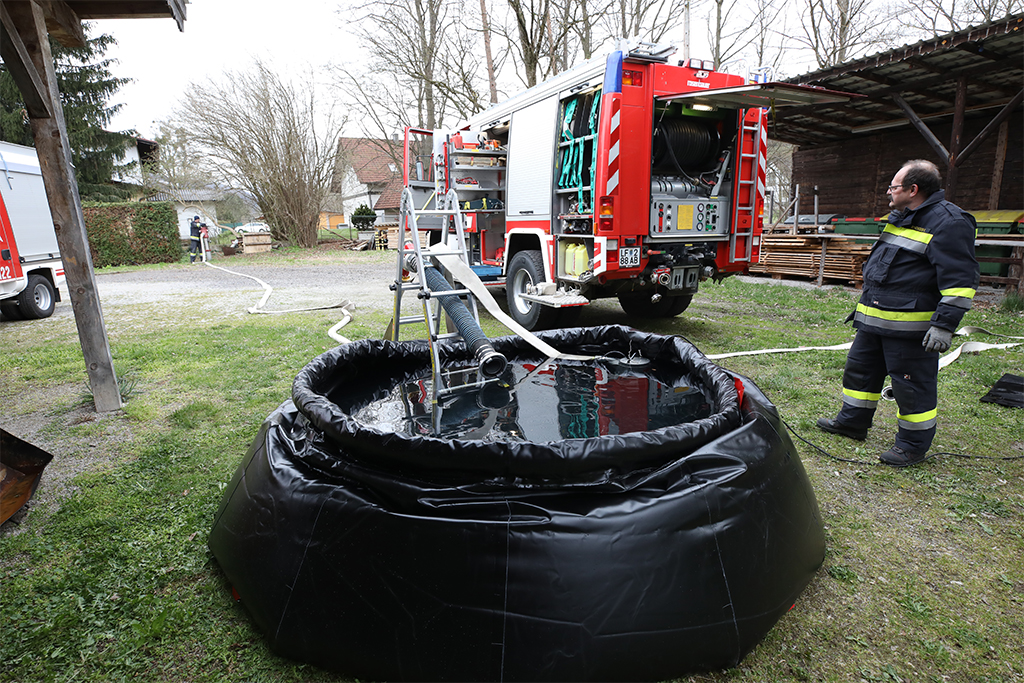 Foto Falttank für Waldbrände
