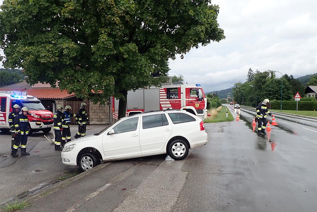 Foto Verkehrsunfall B18
